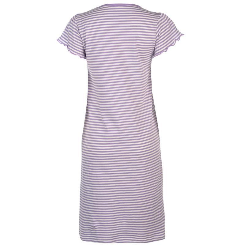 Pyžama Cote De Moi Picot Nightdress Ladies Stripe