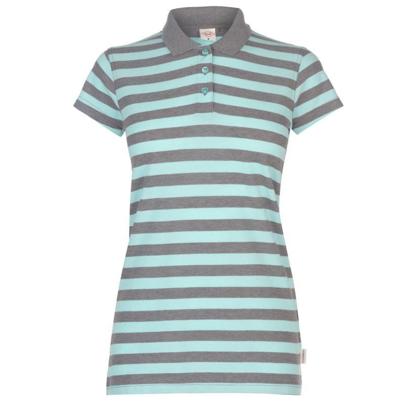 Polokošile Lee Cooper Thin Stripe Polo Shirt Ladies Mint/Char M
