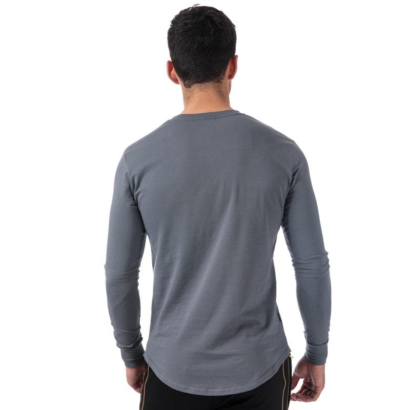 Tričko Gym King Mens Longsleeve Fitted T-Shirt Charcoal
