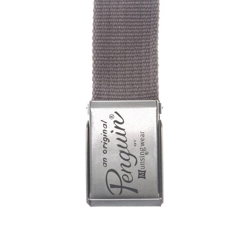 Original Penguin Mens Roosevelt Canvas Belt Grey