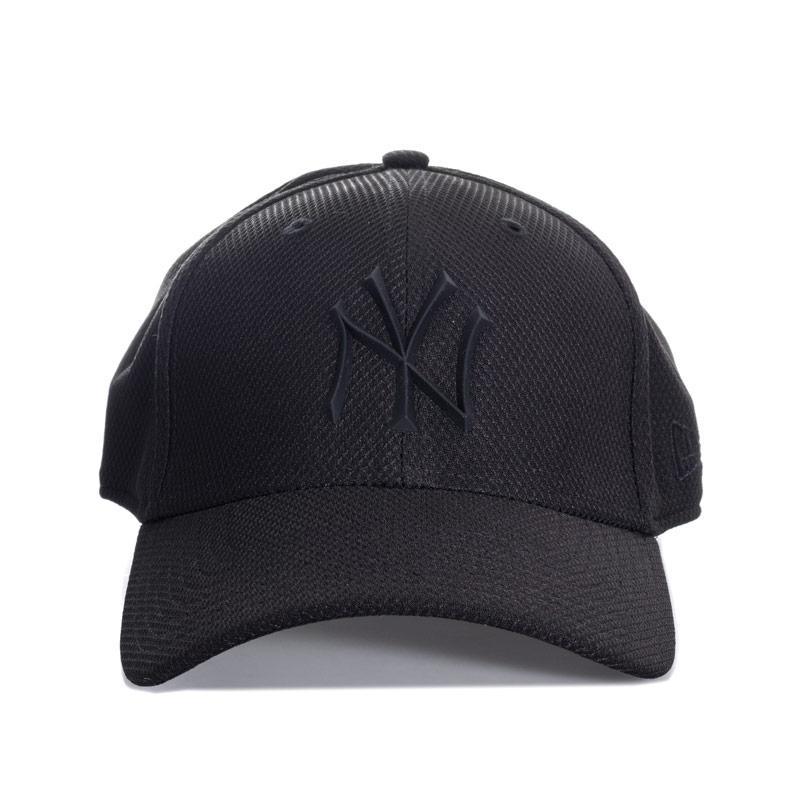 New Era Mens Rubber Prime 39Thirty Cap Black
