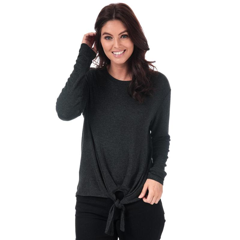 Vero Moda Womens Paya Knot Jersey Top Black
