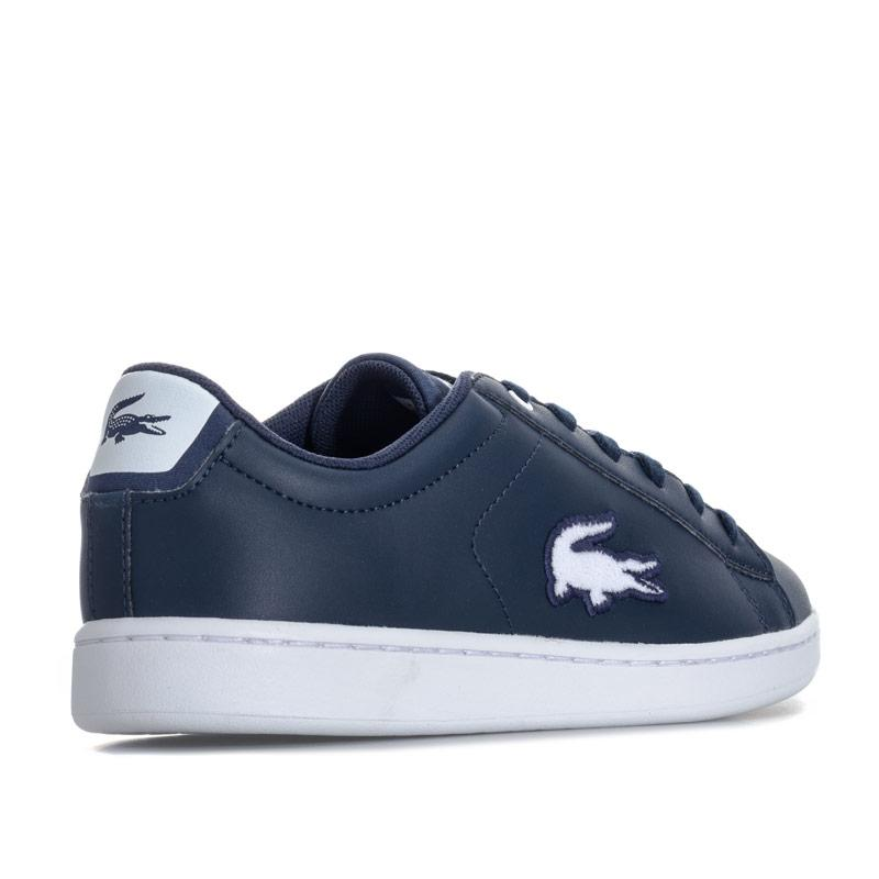 Boty Lacoste Junior Boys Carnaby EVO 418 Trainers Navy-White
