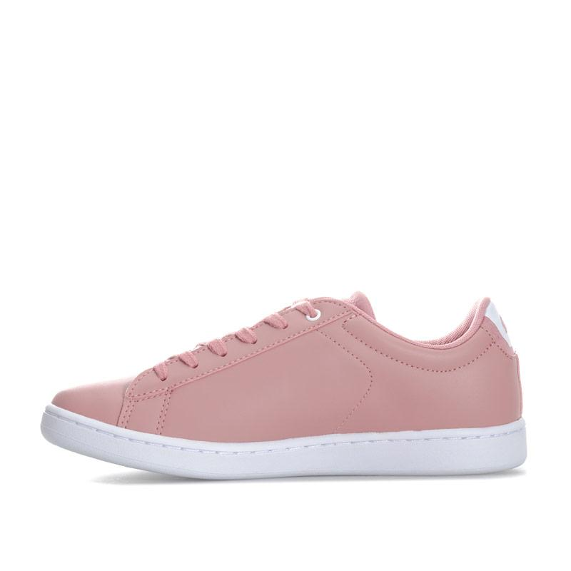 Lacoste Junior Girls Carnaby EVO 418 Trainers Pink white