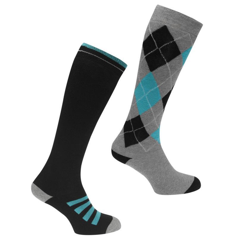 Ponožky Requisite 2 Pack Ridding Socks Mens Black/Green