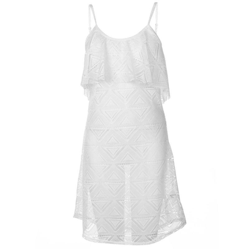 Plavky Rock and Rags Mesh Beach Dress Ladies White