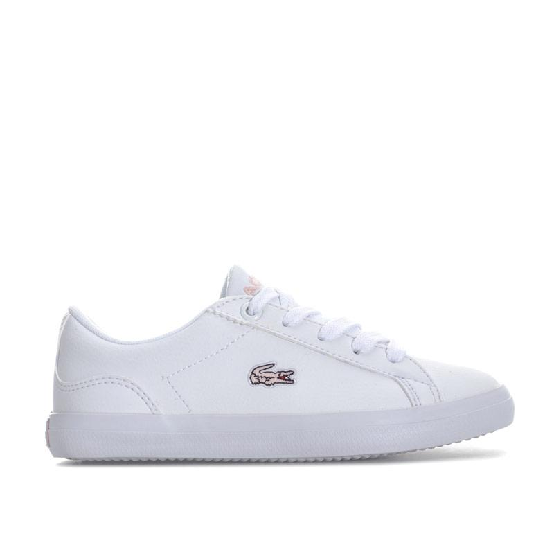 Lacoste Children Girls Lerond 318 Trainers White pink