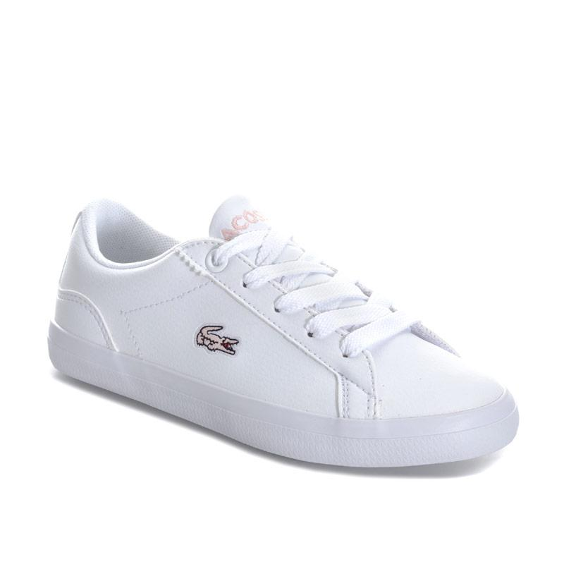 Lacoste Infant Girls Lerond 318 Trainers White pink