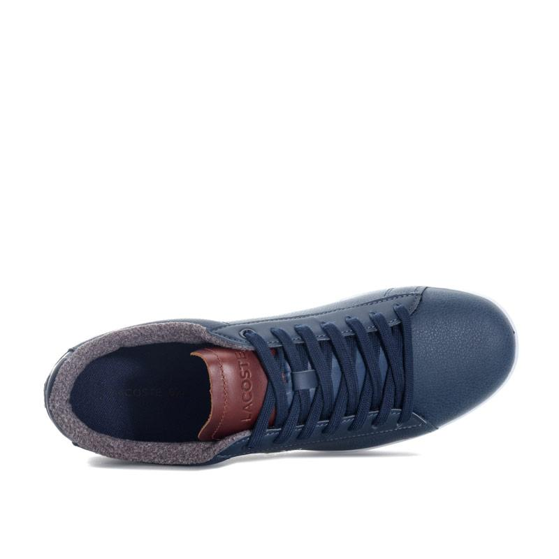 Lacoste Mens Carnaby Evo 318 2 Spm Trainers Navy