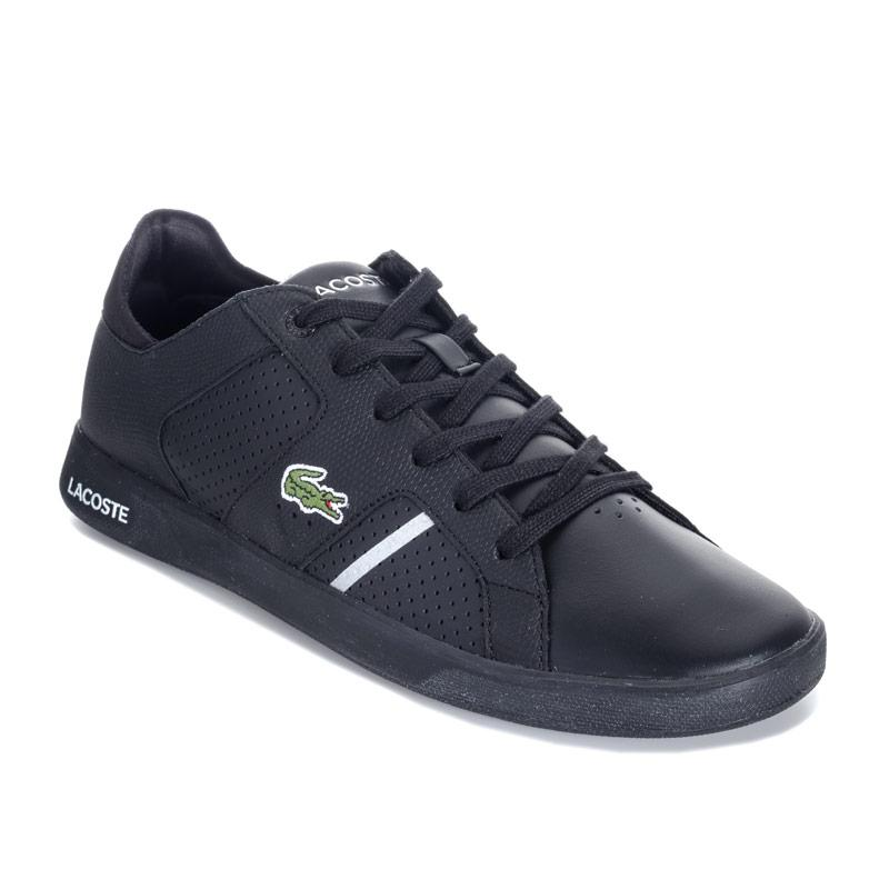 Lacoste Mens Novas Ct 118 2 Spm Trainers Black silver