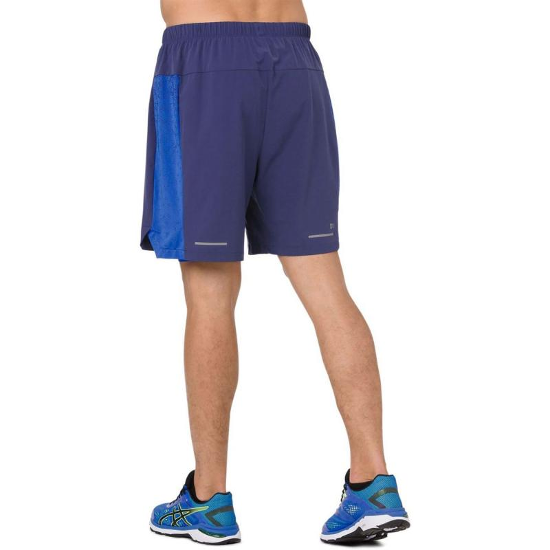Asics 2 in1 Shorts Mens Indigo/IlluBlue