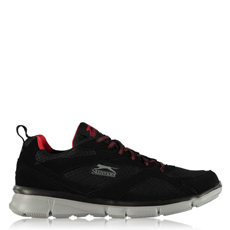 Slazenger Zeal Mens Trainers Black/Red