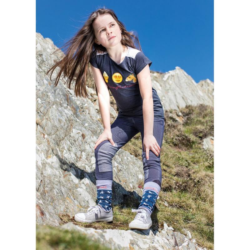 Horseware Novelty T Shirt Junior Girls Navy