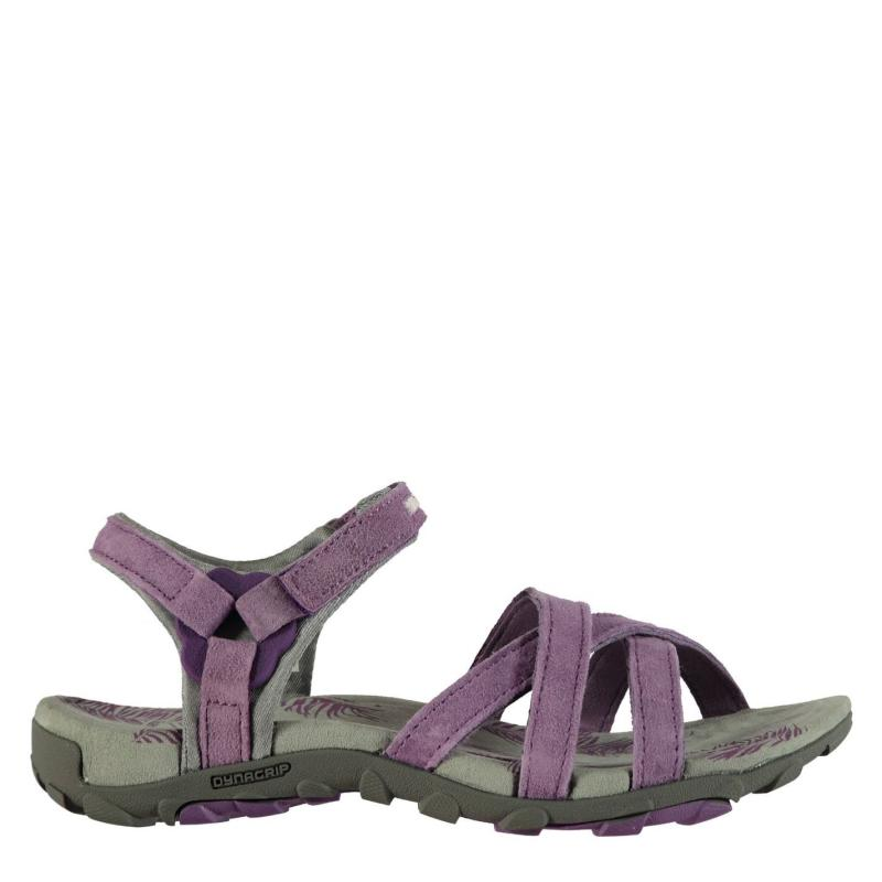 Karrimor Salina Leather Ladies Walking Sandals Purple