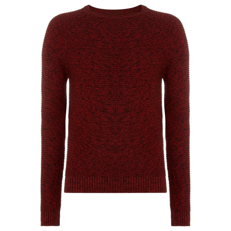 Label Lab Label Hulme Twisted Cotton Jumper Red