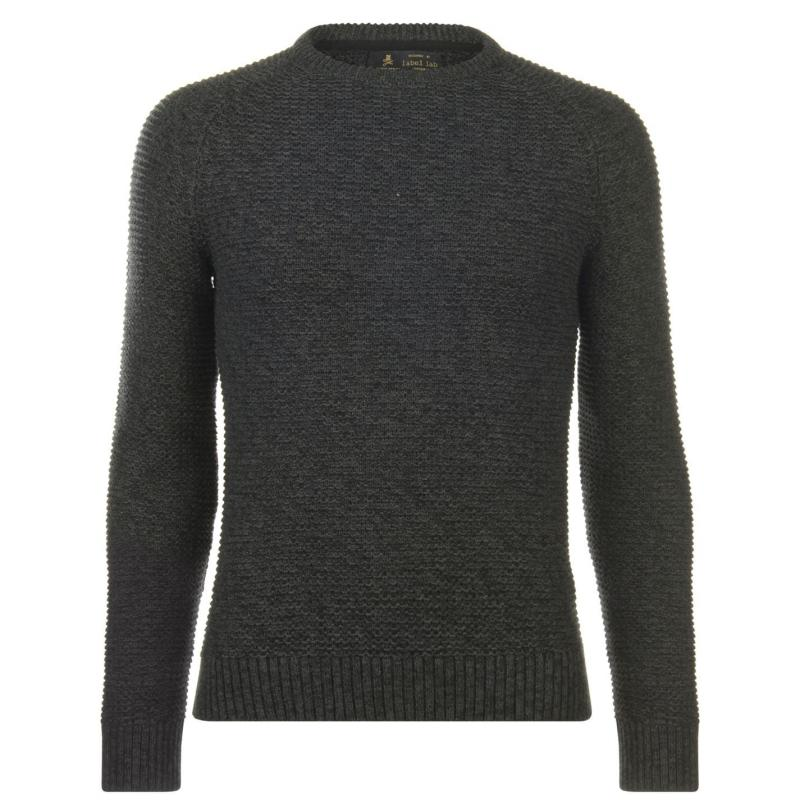 Label Lab Label Hulme Twisted Cotton Jumper Charcoal