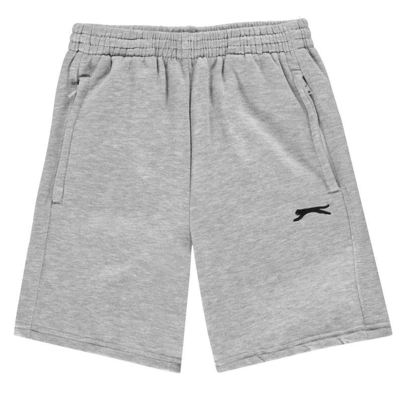 Kraťasy Slazenger Fleece Shorts Junior Boys Grey Marl