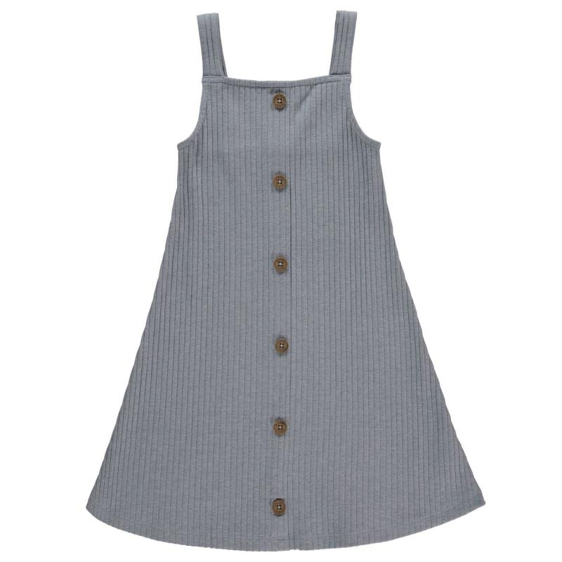 Šaty Firetrap Rib Dress Junior Girls Blue