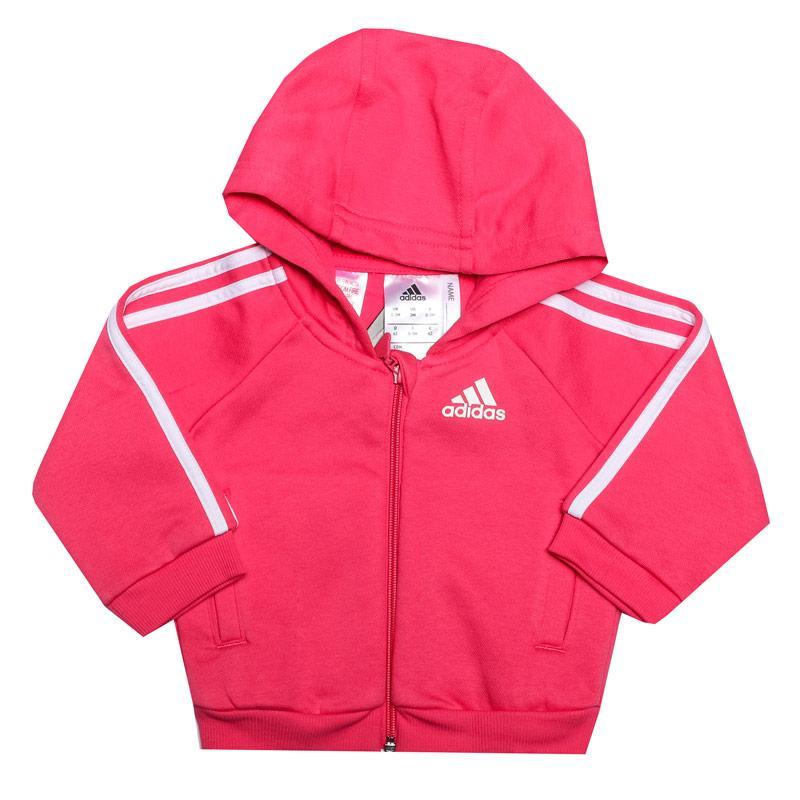 Adidas Infant Girls Favourite Logo Zip Hoody Pink