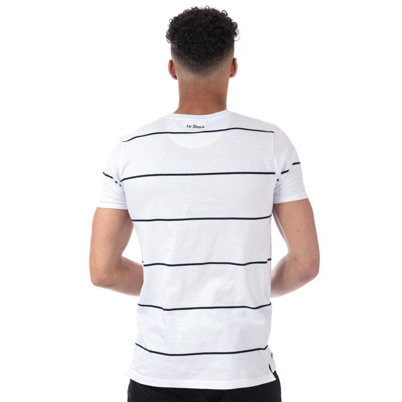 Tričko Le Shark Mens Mitre Striped T-Shirt Grey Marl