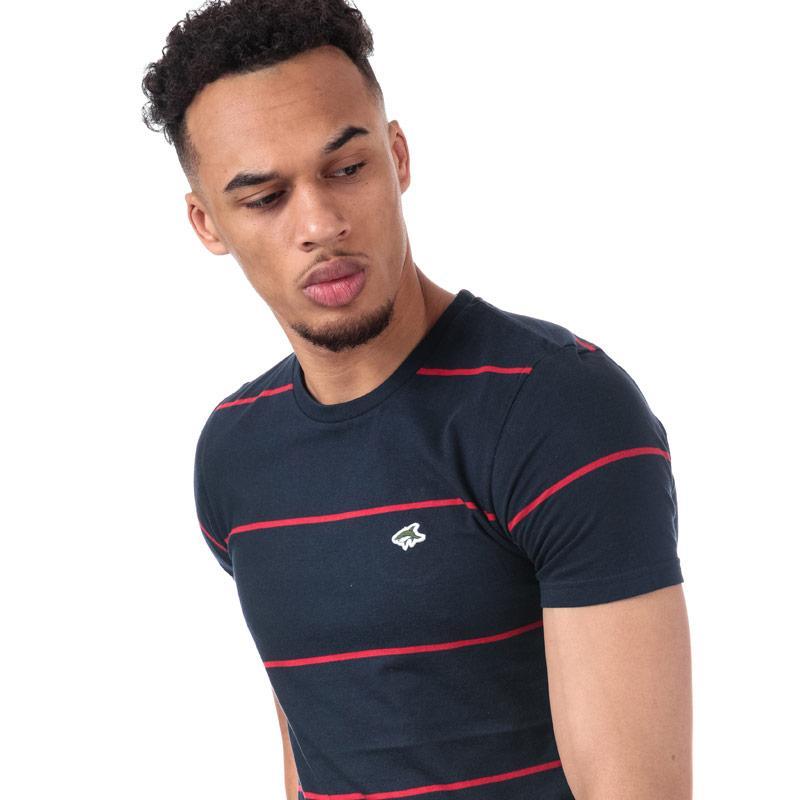 Tričko Le Shark Mens Mitre Striped T-Shirt Navy