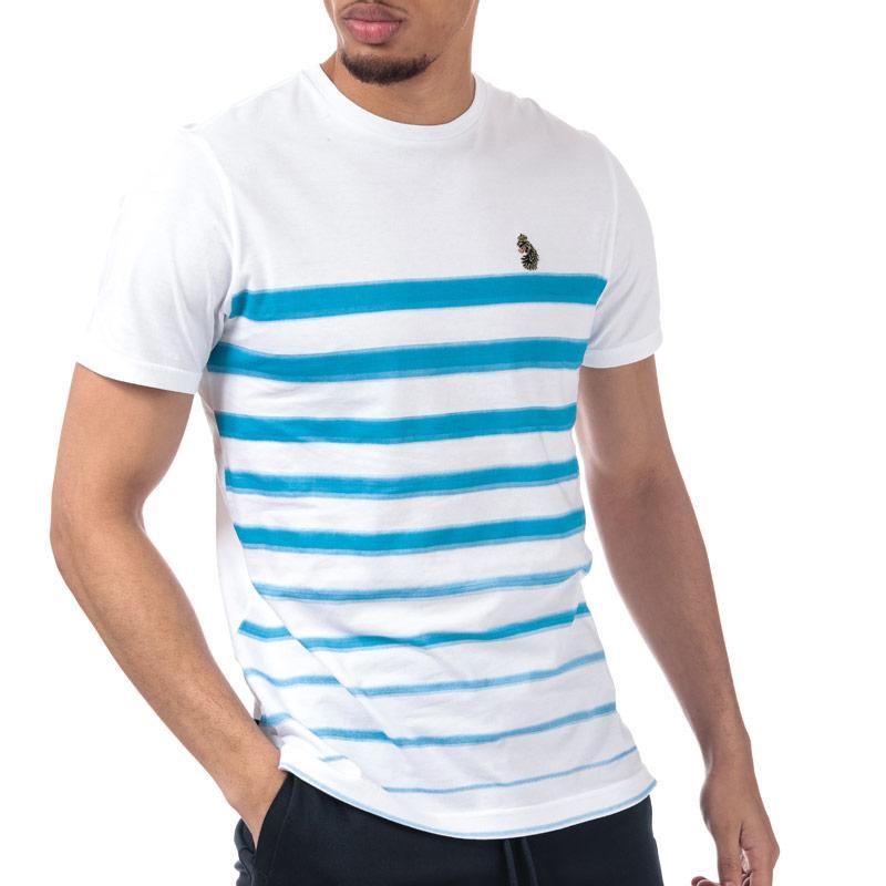 Tričko Luke 1977 Mens Option 1 Striped T-Shirt sky white
