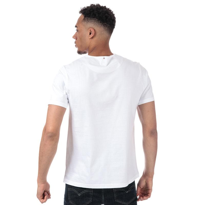 Tričko Pretty Green Mens Paisley Print Logo T-Shirt White
