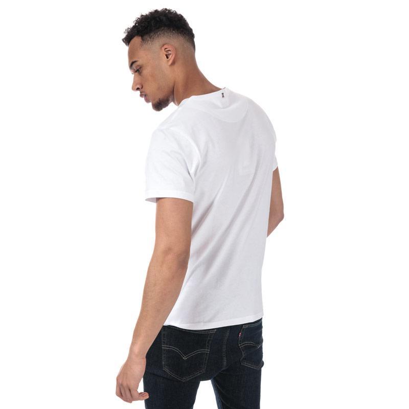 Tričko Pretty Green Mens SS Crew Neck T-Shirt White