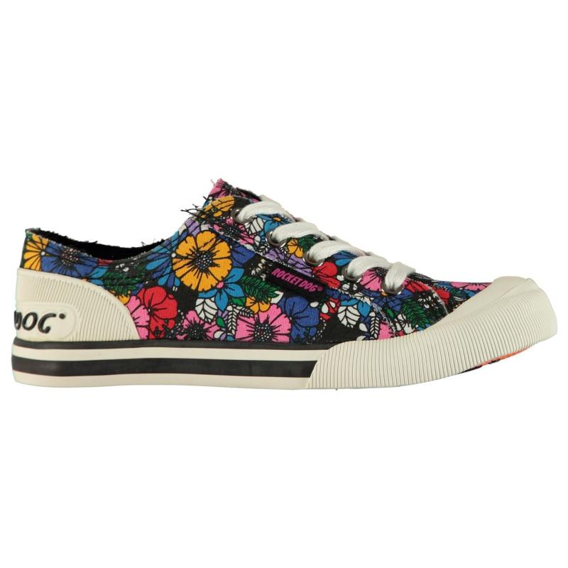 Obuv Rocket Dog Jazzin Ladies Canvas Trainers Flower Frenzy