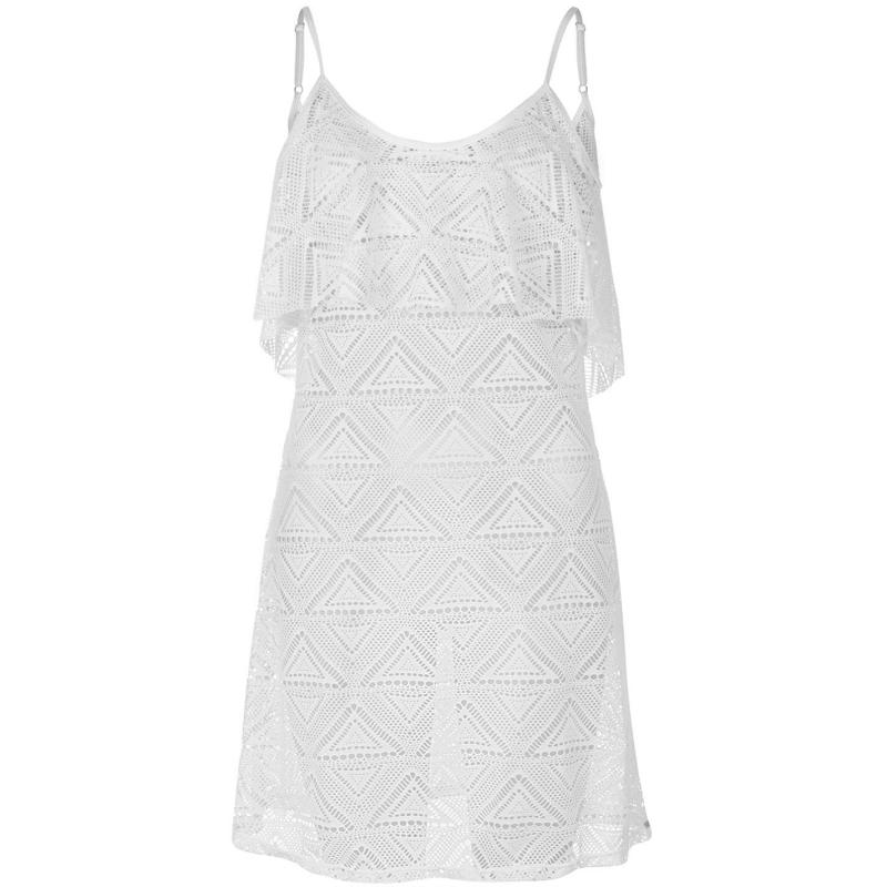 Šaty SoulCal Mesh Vest Beach Dress Ladies White