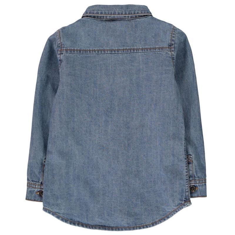 Košile Firetrap Denim Shirts Infant Boys Mid Wash