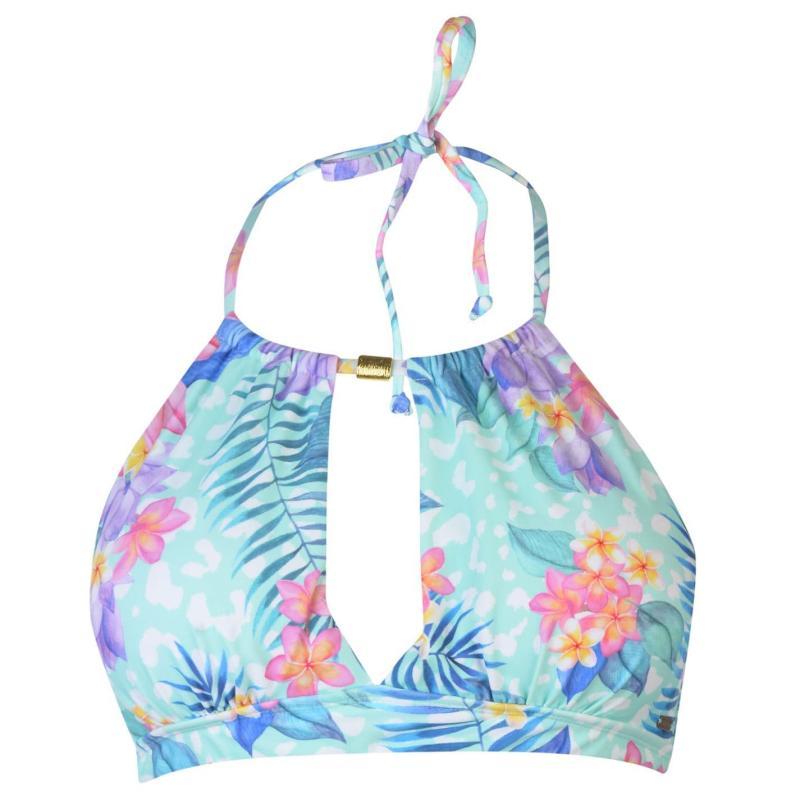 Plavky SoulCal Tropical Halter Neck Bikini Top Tropical