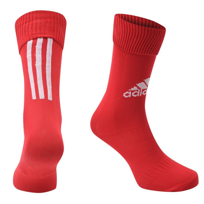 Adidas Santos Football Socks Junior Red/White