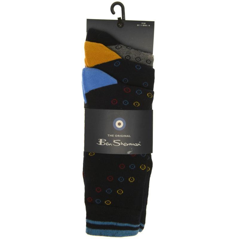 Ponožky Ben Sherman 3Pk Socks Snr01 BX99 Navy/Grey/Geo