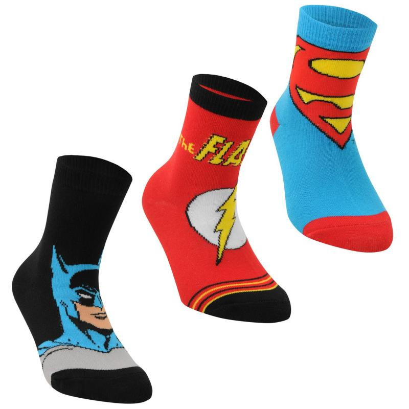 Ponožky DC Comics Superman 3 Pack Crew Socks Junior Multi