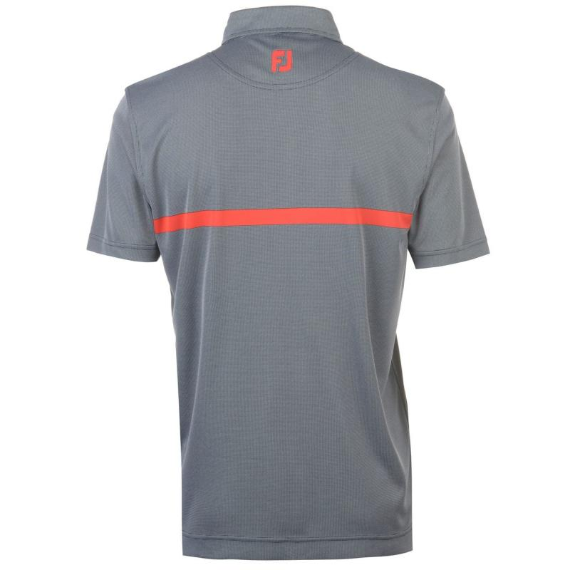 Footjoy Jacquard Polo Shirt Mens Navy