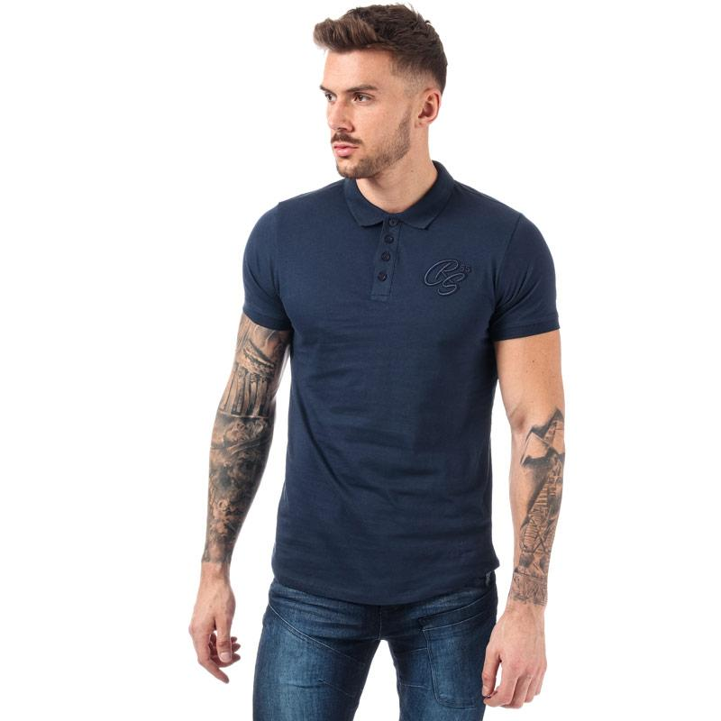 Crosshatch Mens Jammon Polo Shirt Navy