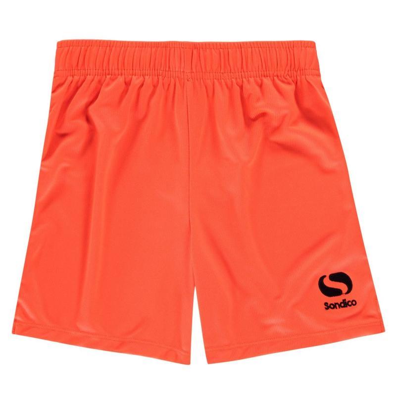 Kraťasy Sondico Core Football Shorts Junior FluOrange/Black