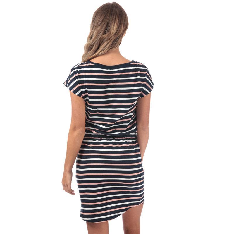 Šaty Only Womens May Multi Stripe Dress Navy