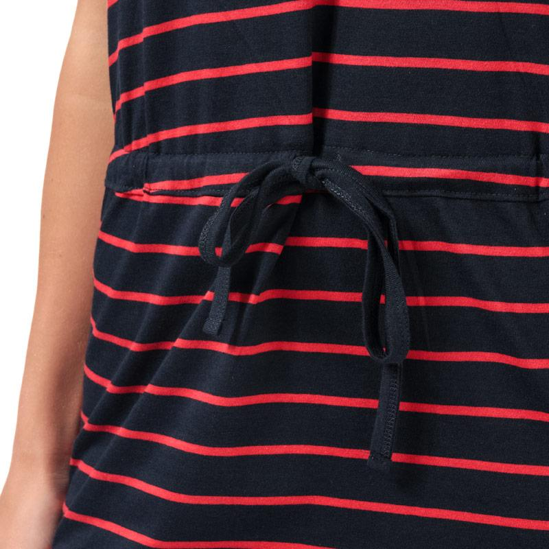 Šaty Only Womens May Stripe Dress Navy Red