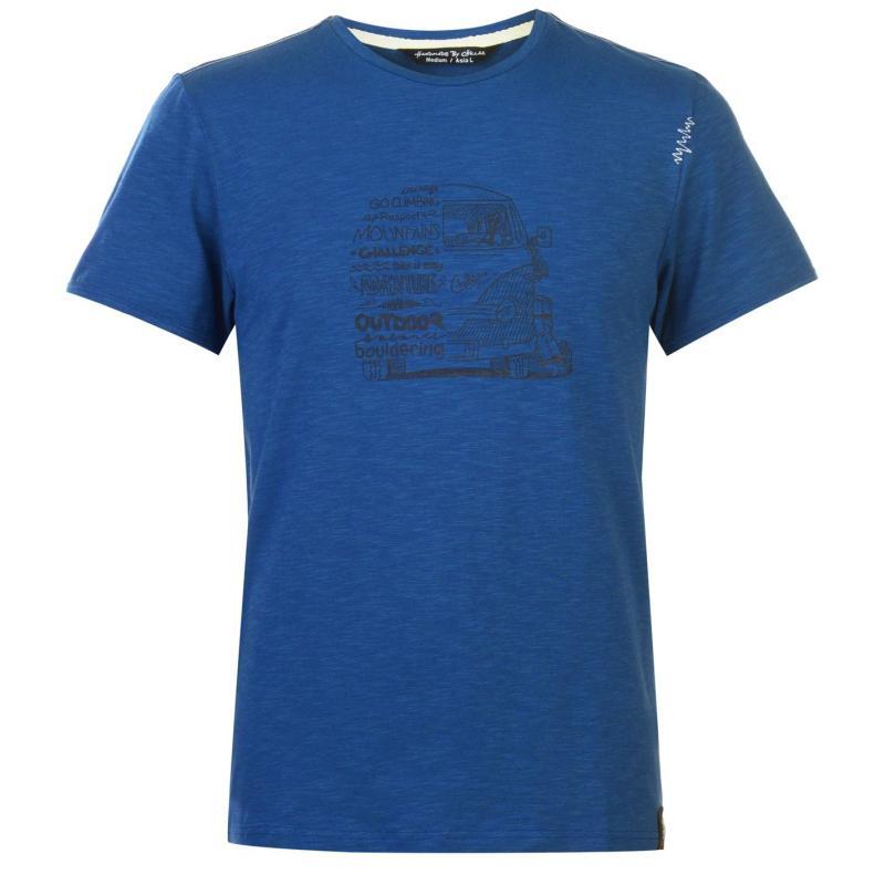 Chillaz Letter T Shirt Mens Dark Blue