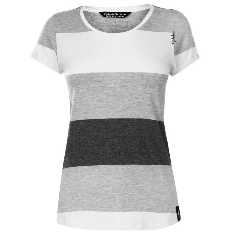 Chillaz Otztal Top Ladies Grey Stripes