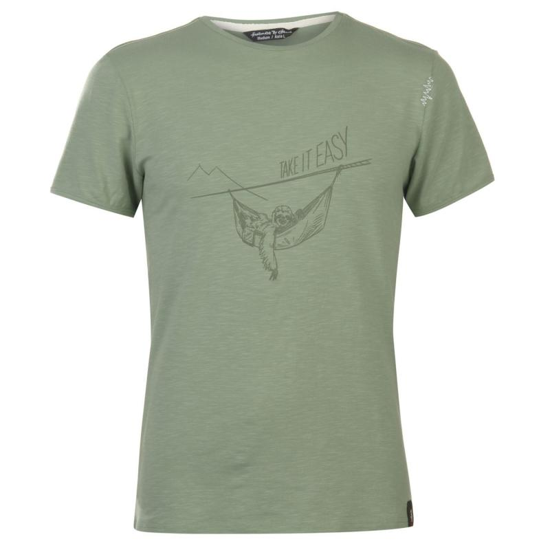 Chillaz Sloth T Shirt Mens Grey Green