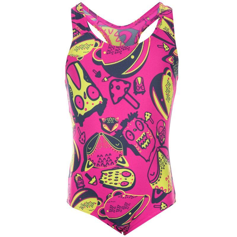 Speedo Infant Girls Essential Moonset Swimsuit Pink blue
