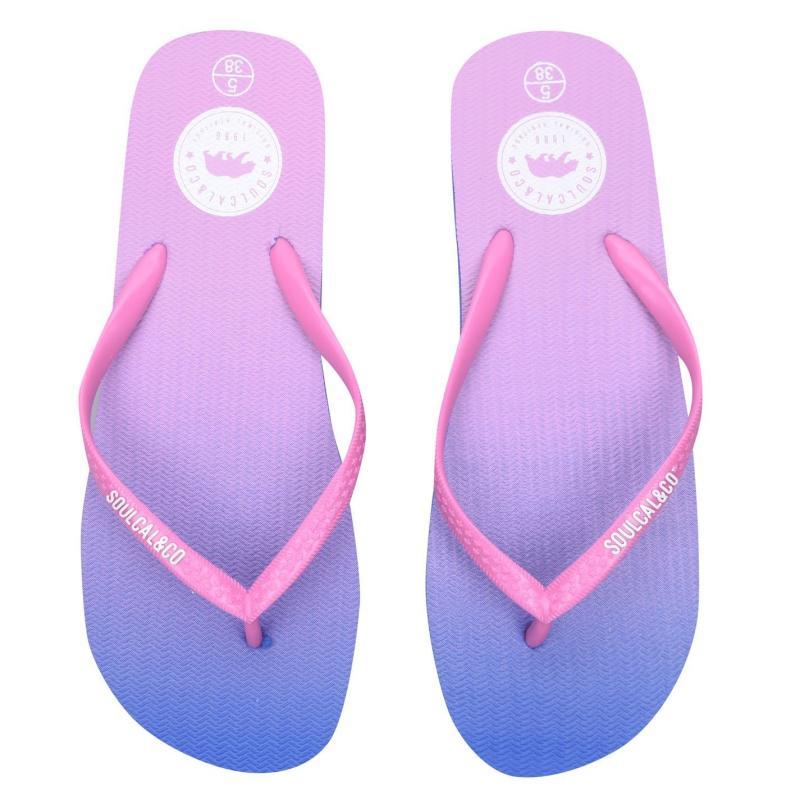 Boty SoulCal Maui Ladies Flip Flops Pink