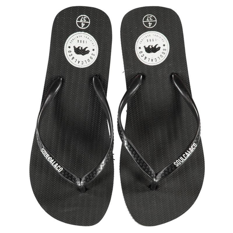 Boty SoulCal Maui Ladies Flip Flops Black