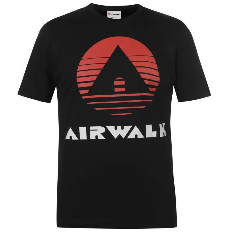 Tričko Airwalk Classic Print T Shirt Mens Black