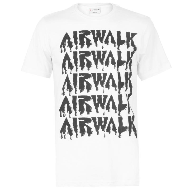 Tričko Airwalk Drip Logo T Shirt Mens White