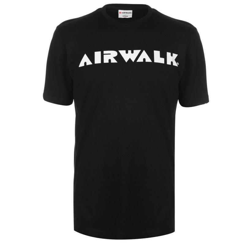 Tričko Airwalk Logo T Shirt Mens Black