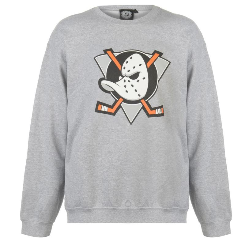Mikina NHL Logo Crew Sweater Mens Ducks